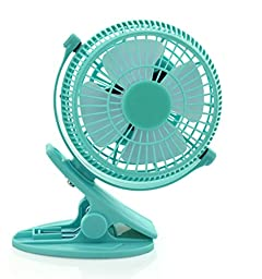 Topwell® 5 Inches 360 Degree Rotation Personal Fan Clip-on USB Fan USB Powered Portable PC Laptop Notebook Computer External Desktop Fan PC USB Cooler Electronic Cooling slide-proof 5\