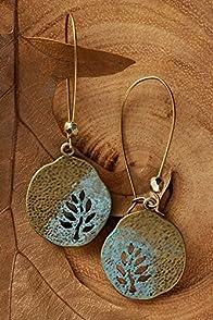 Imagine Jewelry Leaf Cutter Earrings