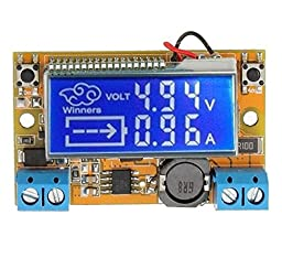 VKmaker DC-DC Step Down Power Supply Adjustable Module With LCD Display Without Housing Case