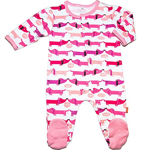 Magnificent Baby Footie Magnet Close Dog Girls Footed Sleeper Pajamas Pink 9 Mth
