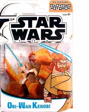 Star Wars Animated Clone Wars Figures Obi-Wan Kenobi