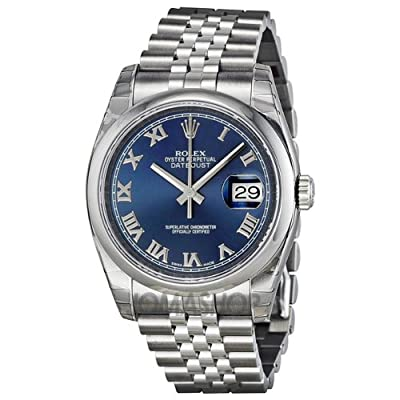 Rolex Datejust Blue Dial Stainless Steel Jubilee Bracelet Mens Watch 116200BLRJ by Rolex