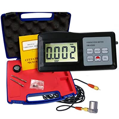 VM6360 Digital Vibration Meter Tester Vibrometer Gauge with RS232 Cable + SoftwareVM-6360