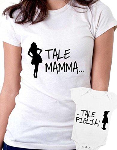 t-shirt e body bianco festa della mamma - Tale madre tale figlia , fashion-tutte le taglie uomo donna maglietta by tshirteria