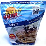 Carbon's Golden Malted Pancake & Waffle Flour Mix, Blueberry, 32-Ounces