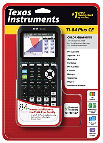 Texas Instruments TI-84 Plus CE Graphing Calculator, Black (Classic Calculator compare prices)