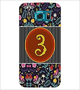 PrintDhaba Numerology Number 3 D-3089 Back Case Cover for SAMSUNG GALAXY S6 EDGE (Multi-Coloured)