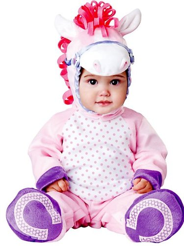 InCharacter Baby Girl's Pretty Pony Costume, Pink/White, Small