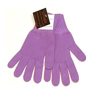 Lovarzi Purple Ladies Cashmere Gloves - Cashmere gloves for women - Made in Scotland - Warm gloves for winter