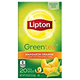 Lipton Green Tea Bags, Mandarin Orange 20 ct (Pack of 6)