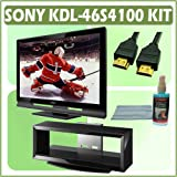 Sony Bravia S-Series KDL-46S4100 46-inch 1080p LCD HDTV & Accessory Kit Bundle with Stand + 3 Year E