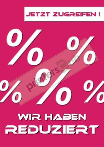 "copy-king-de 2x DIN A1 Plakat ""Reduziert"" ""Zugreifen"" UV-Druck"