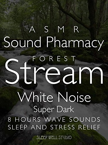 ASMR Forest Stream White Noise Super Dark 8 hours water sounds Sleep and Stress Relief