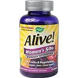 New - Nature'S Way Alive - Women'S 50+ Gummy Multi-Vitamins - 75 Chewables