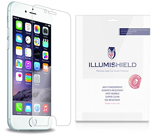 "Illumishield - Apple Iphone 6 Plus Screen Protector 5.5"" Japanese Ultra Clear Hd Film With Anti-Bubble And Anti-Fingerprint - High Quality (Invisible) Lcd Shield - Lifetime Replacement Warranty - [3-Pack] Oem / Retail Packaging"