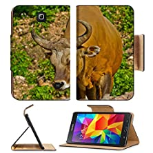 buy Msd Premium Samsung Galaxy Tab 4 7.0 Inch Flip Pu Leather Wallet Case Banteng Or Red Bull Image Id 24256201