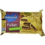 Barbara's Bakery Fig Bars, Multigrain, 12-Ounce Tray (Pack of 6) ~ Barbara's Bakery