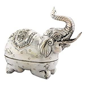 Amazon Com Solid Sterling Silver Elephant Shaped Pill Box