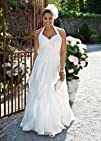Davids Bridal Woman Wedding Dress Soft Chiffon A-Line Gown