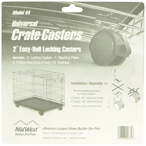 midwest universal crate casters 2 pack from midwest homes for pets