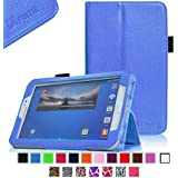 Fintie Folio Classic Leather Case for Samsung Galaxy Tab 3 7.0 inch Tablet - Blue