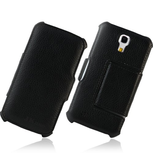Jkase Executive Series Slim-Fit Hard Protective Premium Leather Stand Cover Case For Samsung Galaxy S4 Siv S Iv I9500 (Black)