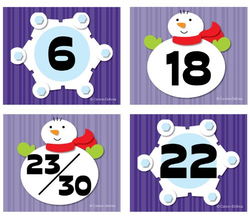 Snowflake/Snowman Calendar Cover-Up (Number Cards For Calendar compare prices)