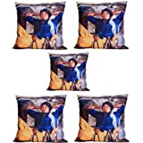 MeSleep Digitally Printed Coolie 5 Piece Cushion Cover Set - Multicolor