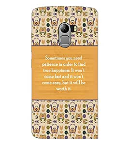 PrintDhaba Quote D-3692 Back Case Cover for LENOVO K4 NOTE A7010 (Multi-Coloured)