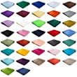 Authentic Jacob Alexander - Wholesale Lot of 10 Mens Solid Color Pocket Squares