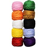 950 Yards Colourful Crochet Cotton Craft Thread Reels by Kurtzy TM