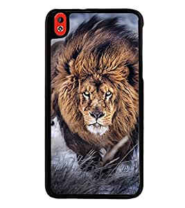 Fuson Premium 2D Back Case Cover lion With Multi Background Degined For HTC Desire 816::HTC Desire 816 G