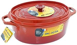 Invicta 30331 Rubis Cocotte en Fonte Émaillée Rouge 31 cm