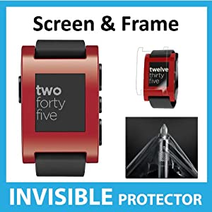 Pebble Watch Invisible Screen Protector (Front Screen & Frame Shield) Exclusively from Ace Case