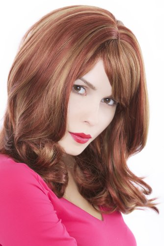 Simply Irresistible LADY QUALITY WIG long MIXED reddish light BROWN red-brown chestnut streaked PARTING GFW75-350H27 45 cm