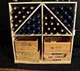 Wooden 96 Wine Bottle Solid Case/Bottle Bin Storage Wine Rack Kit in Ponderosa Pine