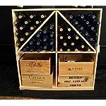 Wooden 96 Wine Bottle Solid Case/Bottle Bin Storage Wine Rack Kit in Ponderosa Pine