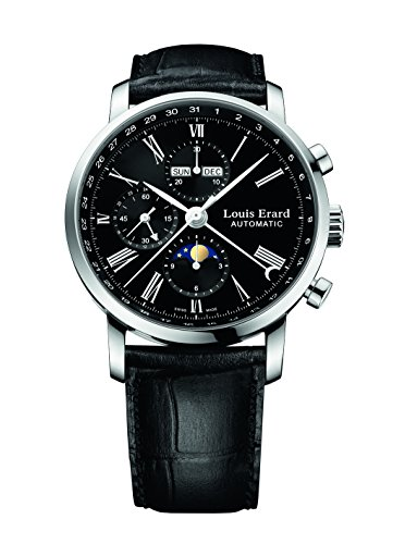 Louis Erard Louis Erard Excellence Collection Swiss Automatic Black Dial Men's Watch 80231AA02.BDC51