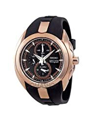 Seiko Men's SNAD10 Chronograph Rose Gold Watch