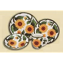 SUNFLOWER 16 pc Dinner Dish Set Dishes Dinnerware NEW!
