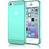 delightable24 Schutzh�lle TPU Silikon Apple iPhone 5 / 5S Smartphone - T�rkis / Gr�n Transparent