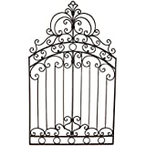 "Bianca Tuscan 50"" Wrought Iron Garden Gate Wall Grille Plaque"
