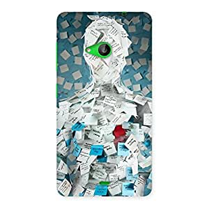 Cute Office Paper Back Case Cover for Lumia 535