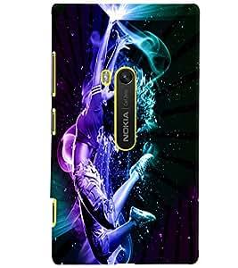 PrintVisa Modern Art Dance 3D Hard Polycarbonate Designer Back Case Cover for Nokia Lumia 920