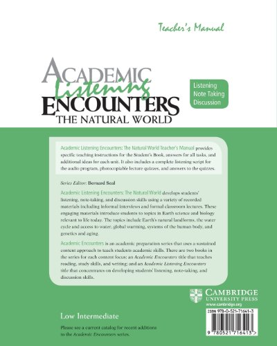 Academic Listening Encounters: The Natural World Teacher's Manual (Academic Encounters)