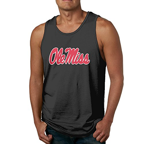 Men's Ole Miss Rebels Logo Tank Top-Black (Men Rebel Flag Tank Top compare prices)
