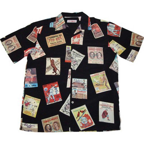 Major League Baseball Retro World Series Commemorative Button-Down Shirt, X-Large at Amazon.com