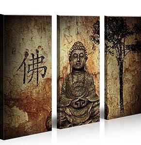 Buddha v10 3 quadri moderni su tela pronti da appendere montata su pannelli in legno - Quadri da appendere in cucina ...