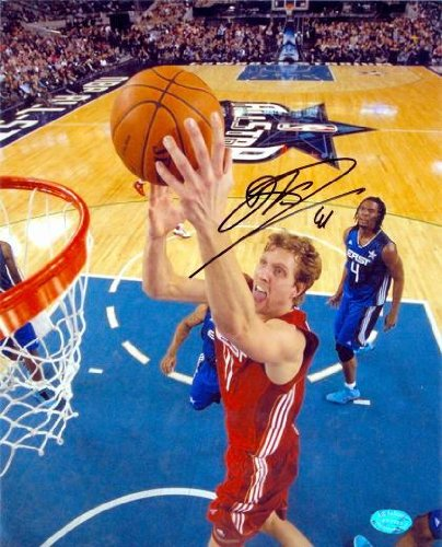 Dirk Nowitzki Signed Picture - 8X10 All Star Game Image #7 - Autographed Nba Photos