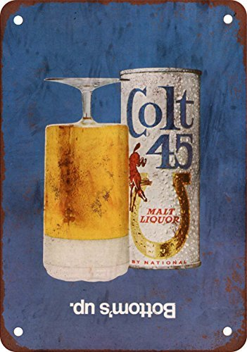 1970-colt-45-malt-liquor-vintage-look-reproduction-metal-tin-sign-12x18-inches